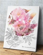 Personalised Floral Poster
