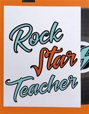 Personalised Rockstar Teacher Poster