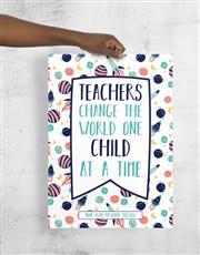 Personalised Teachers Poster