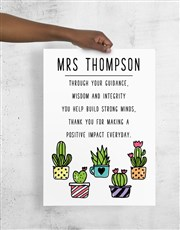 Personalised Cactus Poster