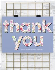 Personalised Thank You Wall Art