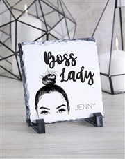Personalised Boss Lady Glass Tile