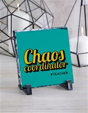 Personalised Chaos Coordinator Glass Tile