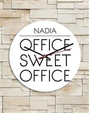 Personalised Sweet Office MDF Clock