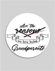 Personalised Grandparents MDF Clock