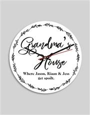 Personalised Grandmas House MDF Clock