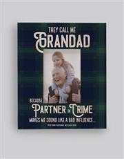 Personalised Partner In Crime Photo Frame