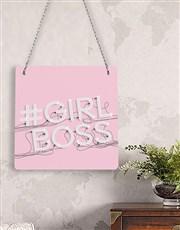 Personalised Girl Boss Metal Sign