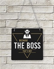 Personalised The Boss Metal Sign