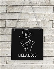 Personalised Like A Boss Metal Sign