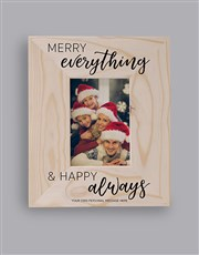 Personalised Merry And Happy Photo Frame