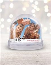 Personalised Ho Ho Ho Photo Snow Globe