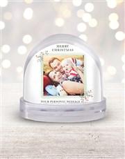 Personalised Merry Christmas Photo Snow Globe