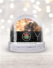 Personalised Joy Photo Snow Globe