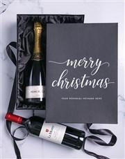 Personalised Christmas Double Wine Giftbox
