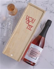 Blush Personalised Wine and Crate