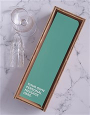 Turquoise Personalised Wine and Crate