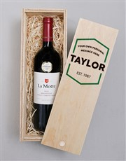 Personalised Hexagon Printed Wine Crate