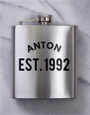 Personalised Established Hipflask