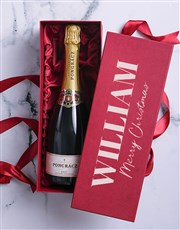 Personalised Christmas Bubbly Box