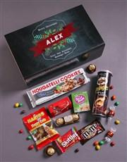 Personalised Vintage Christmas Gourmet Giftbox
