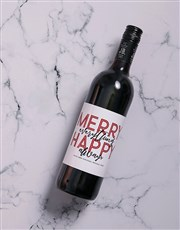 Personalised Wine Label Merry Everything Gourmet