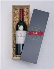 Personalised Festive Black Perspex Wine Crate