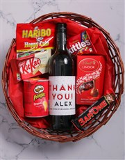 Personalised Thank You Snack Basket