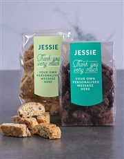 Personalised Thank You Biscotti
