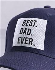 Personalised Navy Best Ever Peak Cap