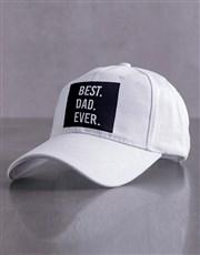 Personalised White Best Ever Peak Cap