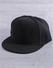 Personalised Black Better Peak Cap