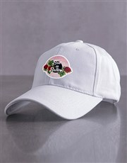 Personalised White Better Peak Cap