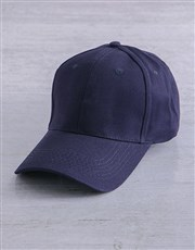 Personalised Navy Name Block Peak Cap
