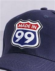 Personalised Navy Made In Peak Cap