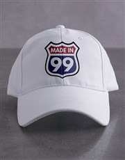 Personalised White Made In Peak Cap