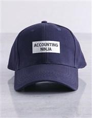 Personalised Navy Ninja Flat Peak Cap