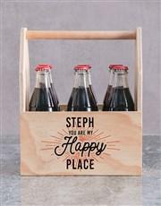 Personalised Happy Place Printed Beer Crate