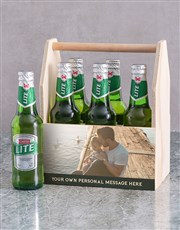 Personalised Photo Printed Beer Caddy
