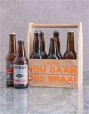 Personalised Braai Printed Beer Crate