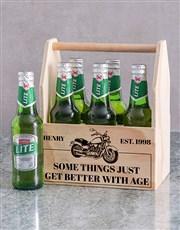 Personalised Harley Printed Beer Crate