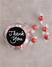 Personalised Chalk Thank You Candy Jar
