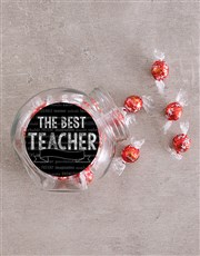 Personalised Chalk Best Teacher Candy Jar