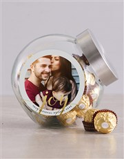 Personalised Gold Merry Christmas Candy Jar