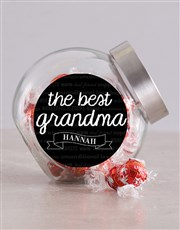 Personalised The Best Grandma Candy Jar