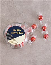 Personalised Gold Happy Birthday Candy Jar