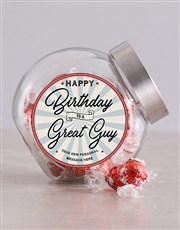Personalised Vintage Happy Birthday Candy Jar