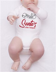 Personalised Santas Little Helper Onesie