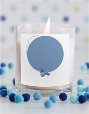 Personalised Baby Boy Photo Candle in Gift Box