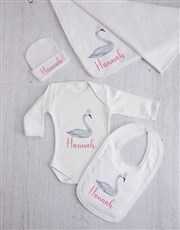 Personalised Swan Princess Clothing Gift Set